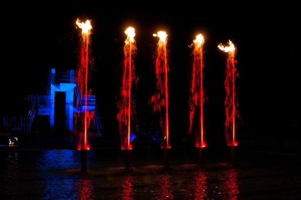 Fountain Flame By TBF Pyrotec