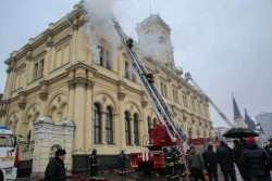 GForce 3 Smoke Generators used in fire simulation exercise at Leningrad Railway Station